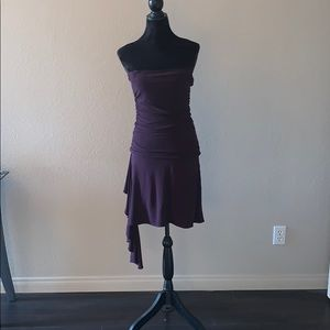 Deep Purple strapless Dress